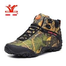 XIANGGUAN Hiking Boots Outdoor Sneakers male camouflage Climbing Camping Shoes High Cut Trekking Men Shoes  ID82289