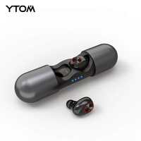 YO8 Super bass Play 6 hours Bluetooth 5.0 Earphone Mini True TWS Wireless Headphones With Dual Mic earbuds for smartphone sport