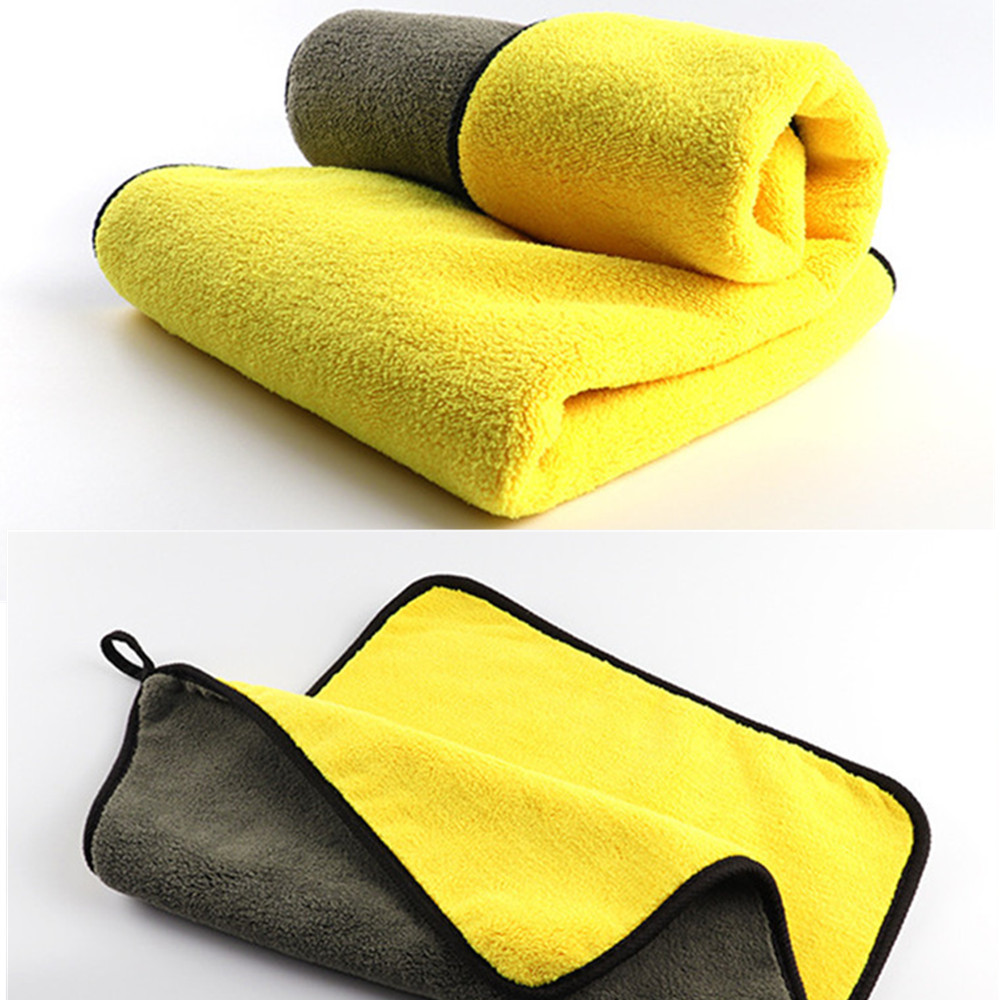 30x30/60CM Car Care Cloth  Extra Soft Microfiber Towel Car Cleaning Sponge Cloth Hemming Car Care Cloth Detailing Car Wash Towel