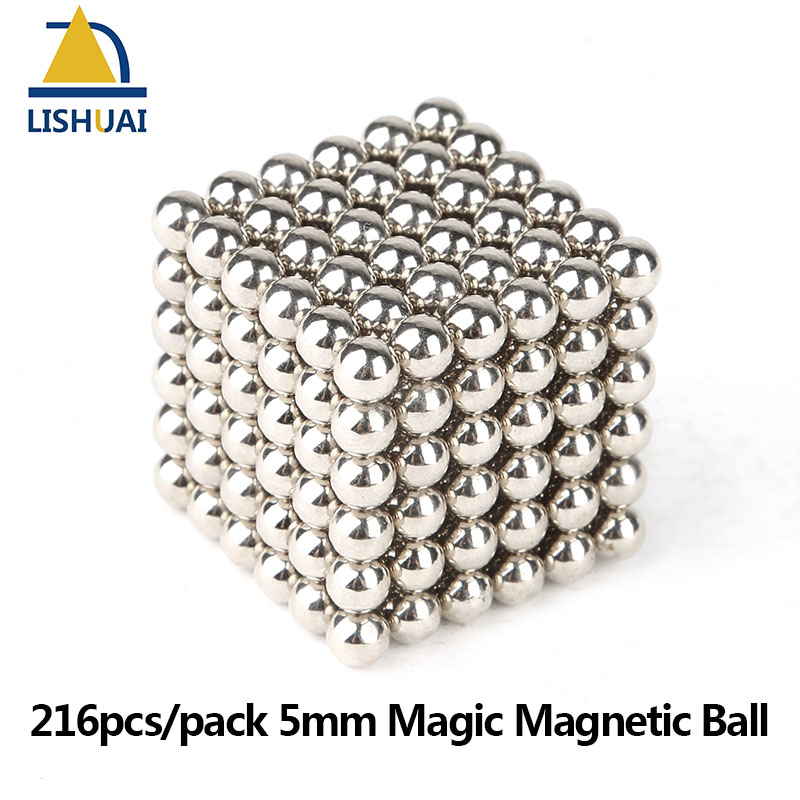 216pcs/pack 5mm Magic Magnetic Ball/ Strong NdFeB DIY Buck Balls/ Neo Cubes Puzzle Magnets qs 3mm216a diy 3mm round neodymium magnets golden 216 pcs