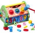 Casa inteligente multifuncional digital blocos de geometria emparelhado casas educação infantil brinquedos de madeira blocos de construção de brinquedos do bebê presente