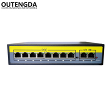 2+8 Ports 100Mbps PoE Switch Adapter Power over Ethernet IEEE 802.3af/at for Cameras AP VoIP Built-in Power 120W Switch Injector цена и фото