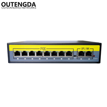 цена на 2+8 Ports 100Mbps PoE Switch Adapter Power over Ethernet IEEE 802.3af/at for Cameras AP VoIP Built-in Power 120W Switch Injector