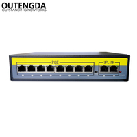 2+8 Ports 100Mbps PoE Switch Adapter Power over Ethernet IEEE 802.3af/at for Cameras AP VoIP Built in Power 120W Switch Injector