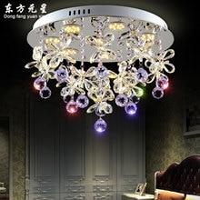 Хрустальная люстра кристалл светодиодные лампы Бабочка Лепестки цветка для гостиной столовой висит лампа