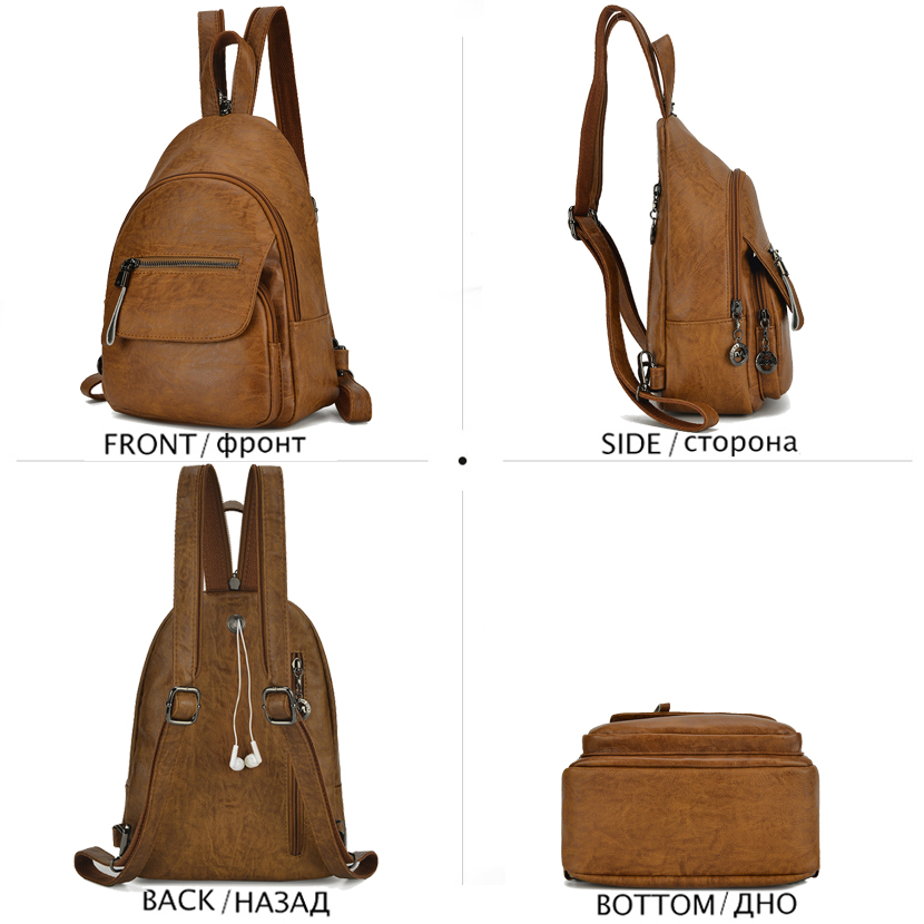Fashion Women Backpack Purse Brand Leather Backpack Female Designer Chest Bag Luxury Backpacks Shoulder Bags for Women Mochila in Backpacks from Luggage Bags