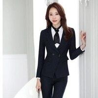 High Quality Formal Black Blazers Women Jackets Elegant Ladies Work Wear Business Clothes Office Uniform Designs