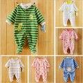 Envío gratis nuevo ropa de bebé polar tela bebé peleles de manga larga bebé ropa interior del bebé cama desgaste