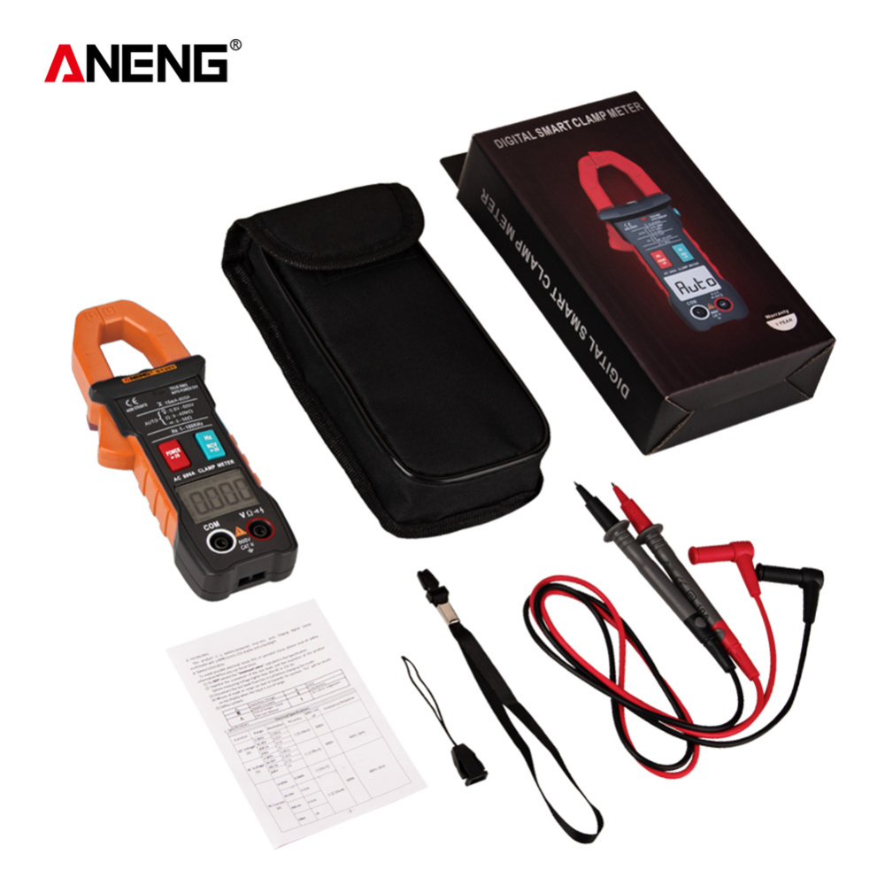 <font><b>ST203</b></font> Digital Clamp Meter Multimeter Mini Amp DC/AC Clamp Meters voltmeter 400v Automatic Range 4000counts True RMS image