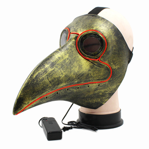 Image 2 - Retro Steampunk Plague Bird Doctor Cosplay Mask Latex LED Funny Event Holiday Halloween Party Costume Props