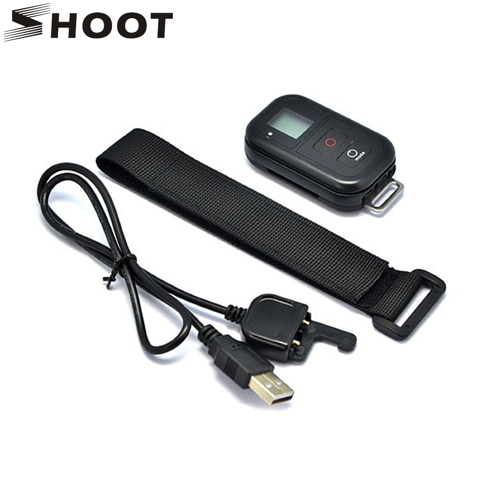 SHOOT 0 8 Inch Waterproof Wireless Wifi Remote Control for GoPro Hero 4 3 3 with