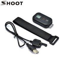 Стрелять 0.8 дюймов Водонепроницаемый Беспроводной Wi-Fi Пульт дистанционного Управления для GoPro Hero 4 3 +/3 с USB Зарядное устройство кабель отдаленных Камера Аксессуары