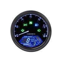 12000RPM KMH Motorcycle Universal LCD Signal Speedometer Tachometer Odometer Universal Digital Odometer Gauge Gear indicator