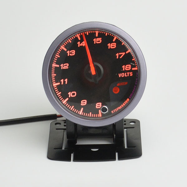 60MM Advanced volt Gauge Black Face with Red Light And White Light Display volt meter Free shipping