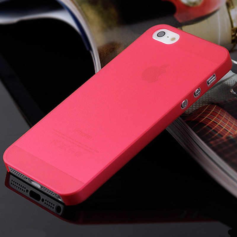 Nowy Slim Ultra cienki kolorowy przezroczysty przezroczysty tylna pokrywa etui na telefony dla iphone 4 4S 5 5S SE 5C 6 6S 7 8 Plus X XR XS Max...