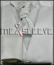 party dress  ivory stripe  4pcs wholesale mans waistcoat (waistcoat+ascot tie+cufflinks+handkerchief)