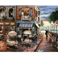 Пейзаж холст картина работа кафетерий холст картины по номерам с рамкой Wall Art Ручная роспись холст Картина маслом E090
