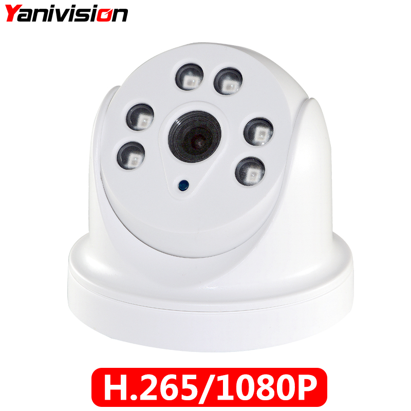 H.265 1080P 48V POE IP Camera NIght Vision Indoor Dome P2P ONVIF Motion Detection RTSP IP Camera CCTV Security Surveillance IP indoor cctv surveillance mini onvif p2p full hd 1080p motion detection poe ip camera audio support for atm shops home security