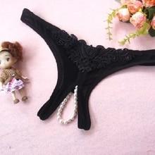 a11f76a38 Sexy lingerie de Renda bowknot sexy see-through de sedução das mulheres  t-calças