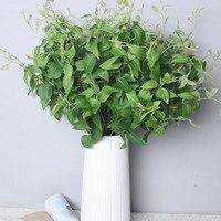 1 SZTUK Clematis liście liście rośliny zielone rośliny kwiatowe akcesoria symulacji symulacji symulacji kwiaty