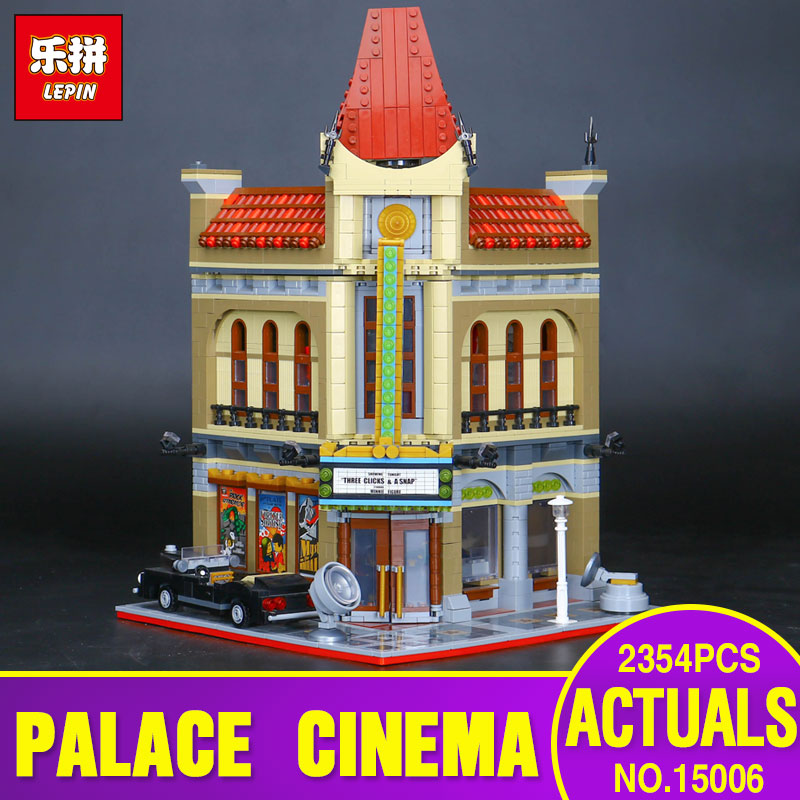 Pesale LEPIN 15006 2354pcs Palace Cinema Model Building Blocks set Bricks Toys Compatible with  10232 Gift lepin 22001 pirate ship imperial warships model building block briks toys gift 1717pcs compatible legoed 10210
