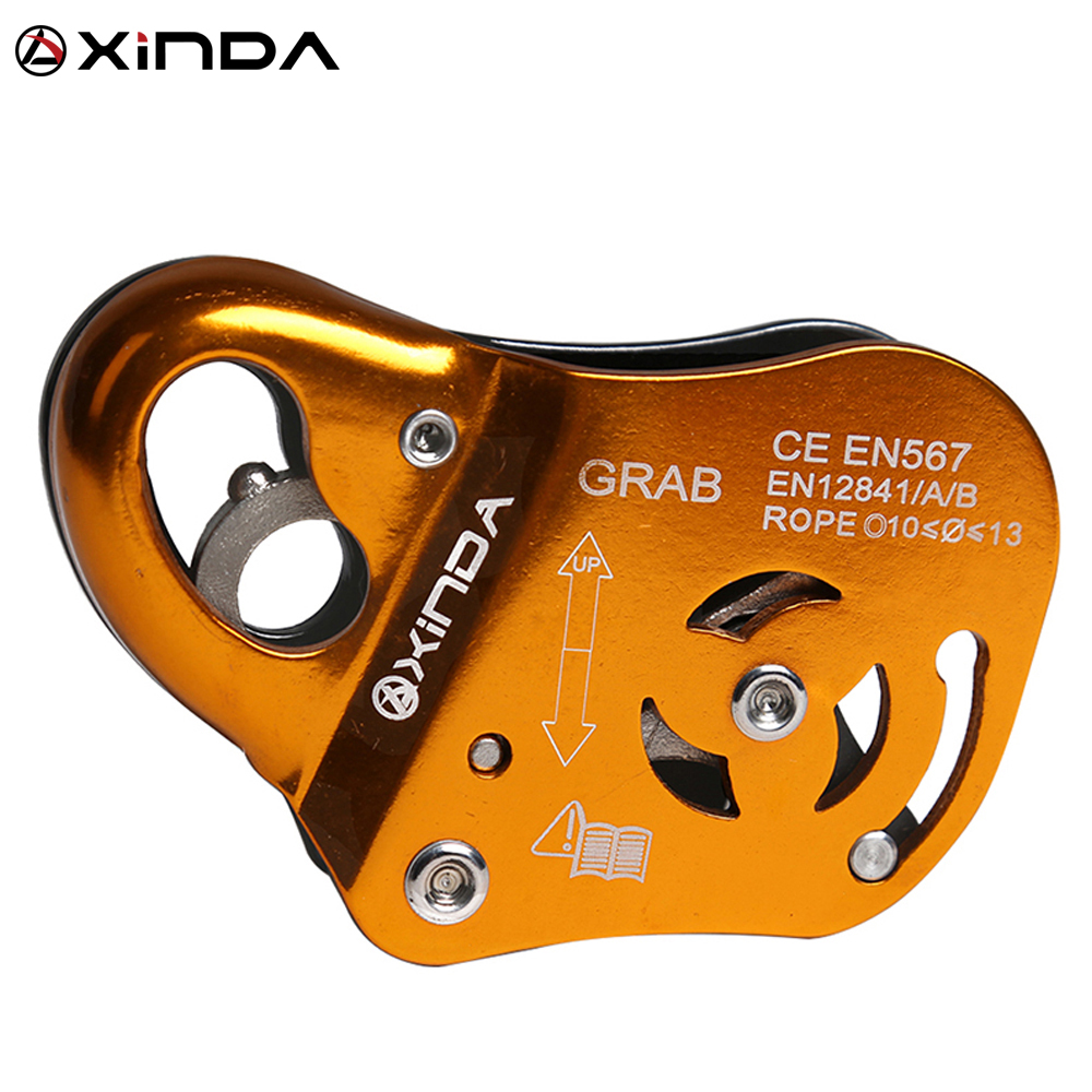 XINDA Brand Rock Climb Asending & Descending Safety Equipment Removable Rope Gripper Automatic Lock Anti Fall Protctive Gear