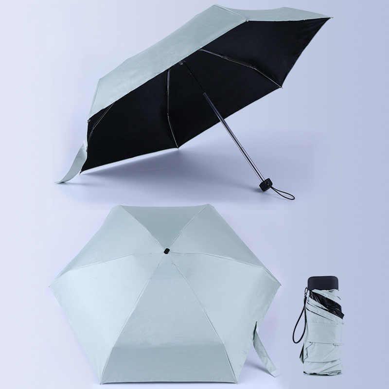 Мини карманный солнцезащитный зонтик модный складной зонт от дождя женский подарок девушки анти-УФ водонепроницаемый портативный зонтик для путешествий