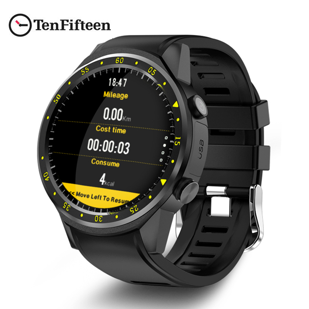 TenFifteen F1 Sports Smartwatch Phone 1.3 inch MTK2503 Dual Bluetooth GPS Beidou Camera Heart Rate Sleep Monitor Smart Watch