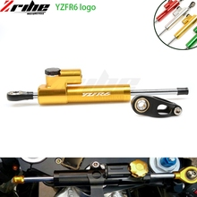 motorcycle Accessories cnc Universal Damper Steering Stabilizer Linear Reversed Safety Control Over for yamaha yzf r6 yzfr6 universal motorcycle cnc damper steering stabilizer damper linear reversed safety control for ninja 300 bmw r1200gs mt 07