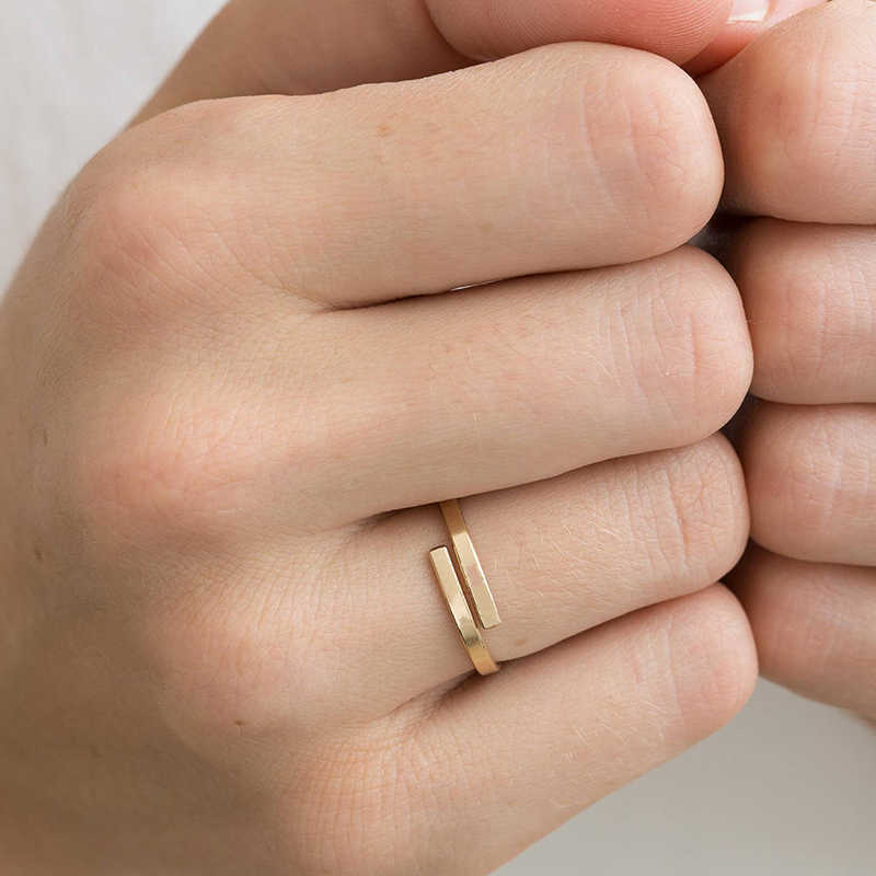 แฟชั่นยอดนิยมแหวนนิ้วมือ Lady เรขาคณิต Ghin ส่วนปรับแหวนสแตนเลสแหวนเครื่องประดับขนาดเล็ก 2019