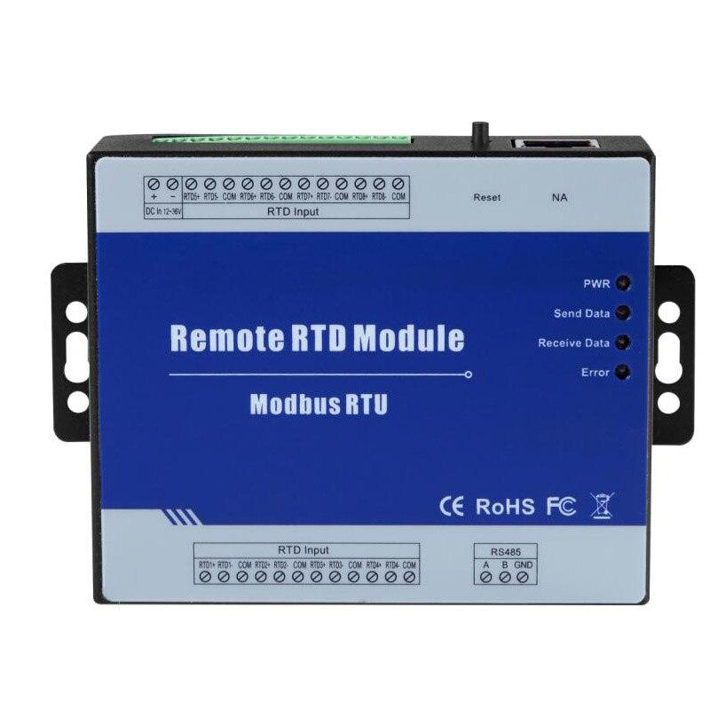 4 RTD входы Modbus RTU RTD удаленный IO модуль поддерживает PT100 или PT1000 датчик сопротивления с портом RS485