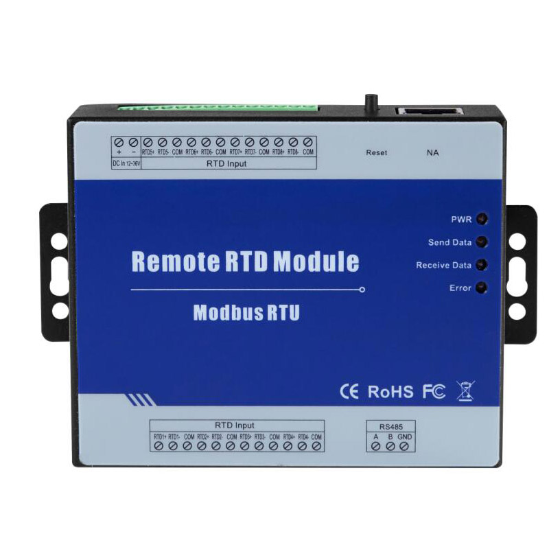 4 RTD Inputs Modbus RTU RTD Remote IO Module Supports PT100 Or PT1000 Resistance Sensor With RS485 Port