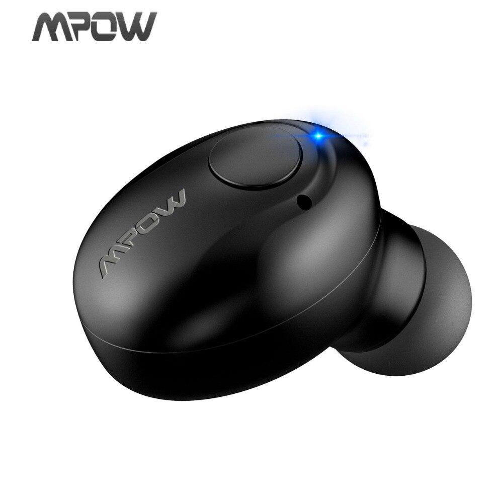 Original Mpow Spuer Mini In-Ear Wireless Earphones Black Portable Bluetooth Wireless Earphones Hands-Free Call For Car Driver