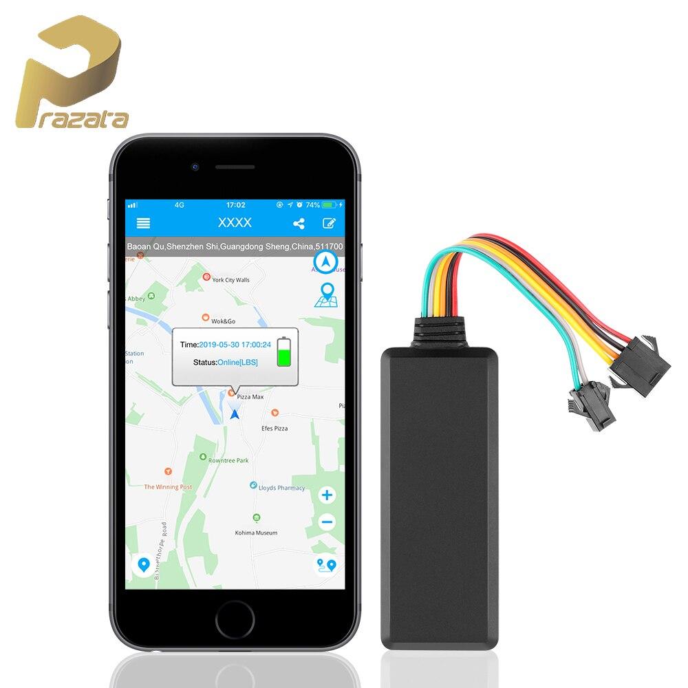 Prazata 2G Mini GPS Tracker voiture à distance coupé huile voiture GSM GPS localisateur de véhicule TK121 suivi en temps réel alarme de vitesse application Web gratuite