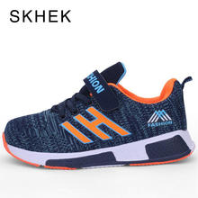 SKHEK New Kiids Shoes For Boys Sport Shoes Kids For Girls Fashion Breathable Mesh Student Casual Shoe Children Sneakers Black csxd child girls boys casual shoes kids breathable mesh sport shoes teenager student opening gifts 2017 geerbu summer