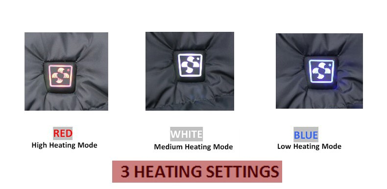 7.4V 4200mAh Electric Heated Vest Men Soft Shell Waterproof Windproof Winter Ski Snow Sportswear Thermal Warm Veste Mens Black NECK BACK HEATED VEST