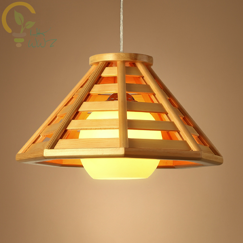 Simple Single Head Solid Wood Pendant Lamp Creative Farm Hanging Light Restaurant Teahouse Southeast Asia Style E27 Pendant LighSimple Single Head Solid Wood Pendant Lamp Creative Farm Hanging Light Restaurant Teahouse Southeast Asia Style E27 Pendant Ligh
