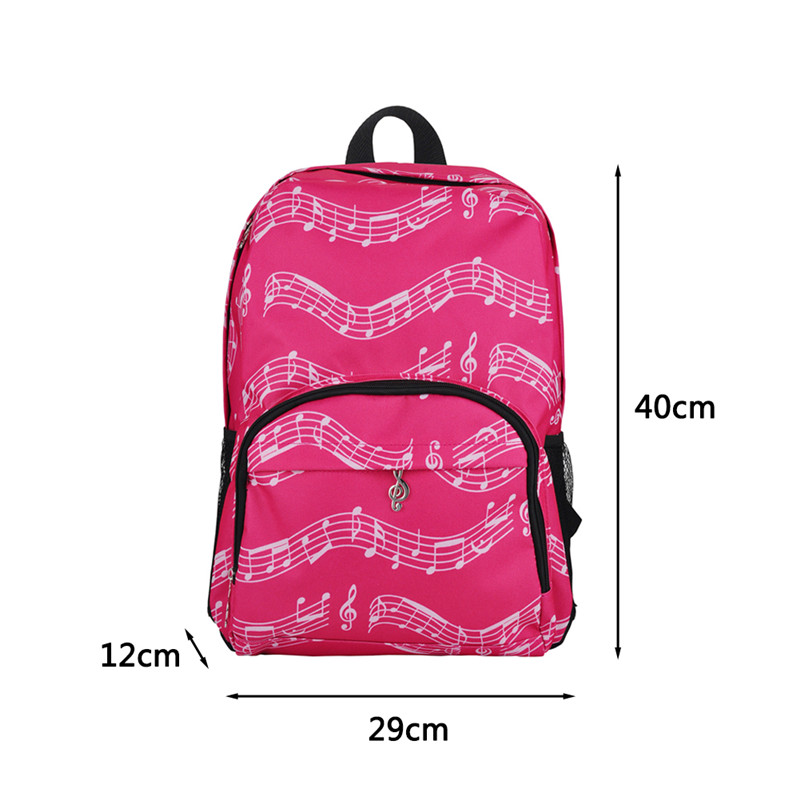 20 35l Music Bag Oxford Cloth Music Symbol Music Score Piano Keyboard Stave Version Musical Notation Sheet Backpack In Guitar Parts Accessories From