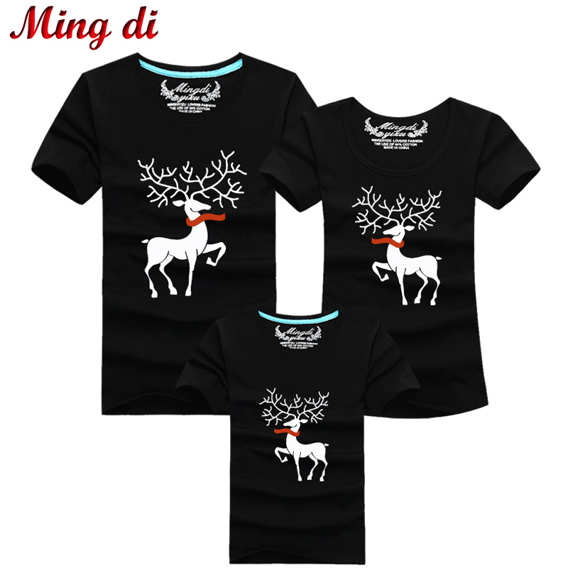 1fb16ca76 Christmas Family Matching Outfits T-shirt More Color Milu Deer ...
