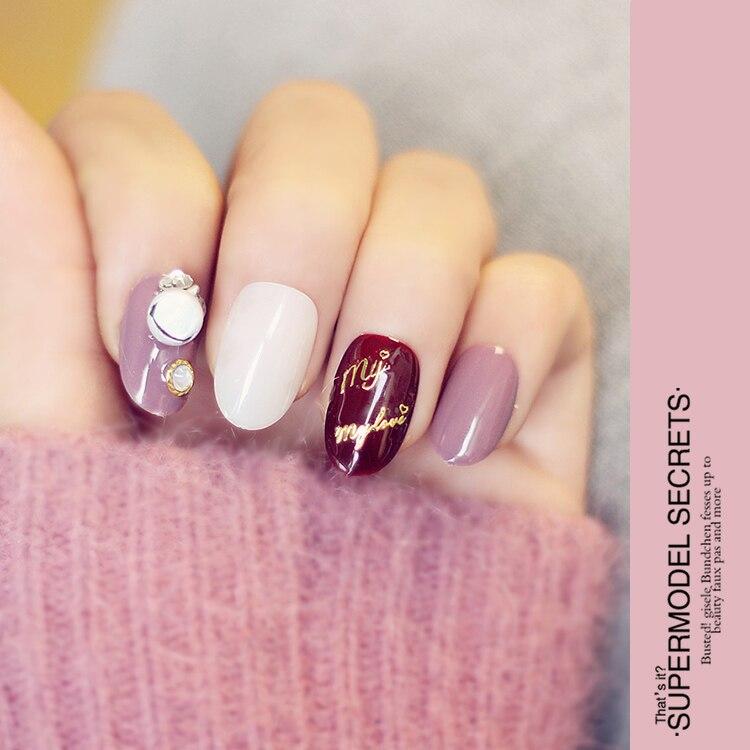 Joyeux noël Japonais pur couleur cute3D gel nail conseils