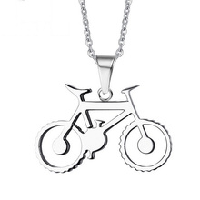 2017 New Arrival Stainless Steel Necklaces & Pendants Men Jewelry Trendy Bicycle Link Chain Necklace Bike Accessories For Gift