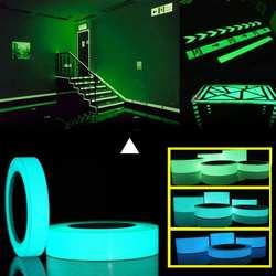 Мм 10 м * 10 мм светящаяся лента самоклеящаяся светящаяся в темноте наклейка для выхода вывеска стены безопасность сценическая ночное
