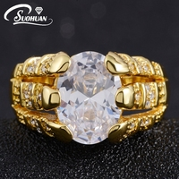 2015 New Fashion Jewelry Size 8 9 10 11White Sapphire Ring 10KT Gold Filled Rings For