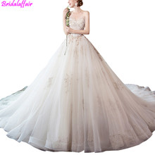 Luxury Celebrity Wedding Dress For Bridal Beading Ball Gown Lace Gowns vestidos de noivas Real Photos 2019