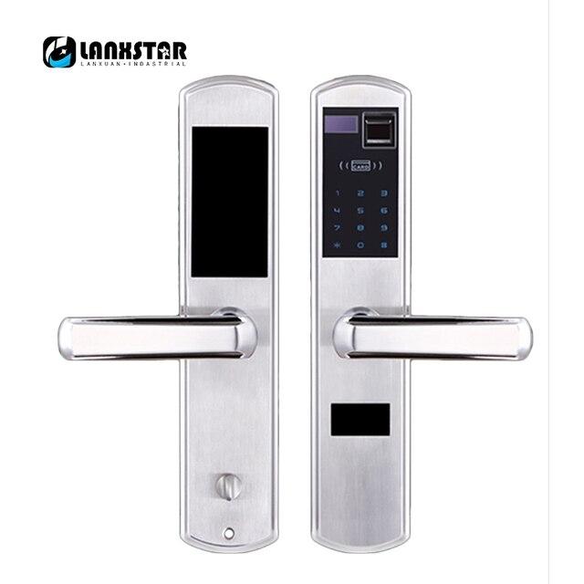 304 Stainless Steel Over Grade C Lockcore Fingerprint Lock Password Locks Intelligent Card Locked Keys 5 in 1 Anti-theft Locker
