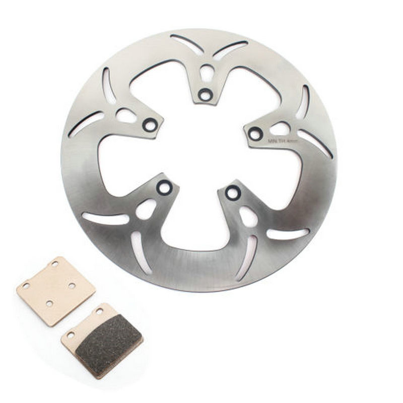 BIKINGBOY Front Brake Discs Disks Rotors Brake Pads For SUZUKI <font><b>VL1500</b></font> Intruder LegendaryCl Front 1998 1999 2000 2001 98-01 image