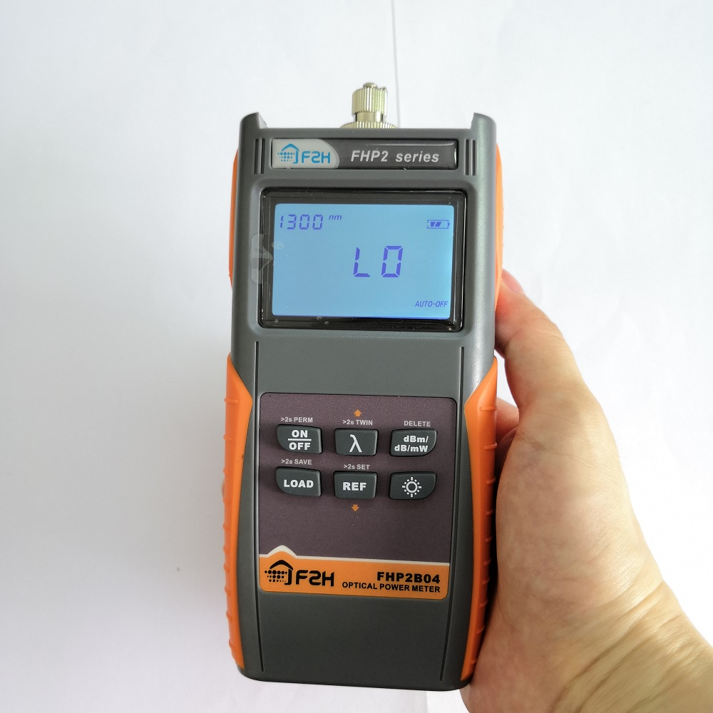 Grandway FHP2A04 or FHP2B04 Handheld Fiber Optic Power Meter with Data Storage function and rechargeable battery