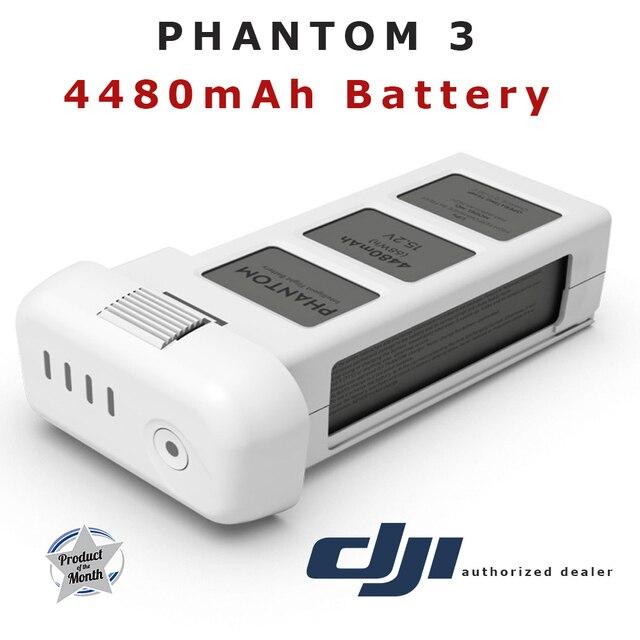 100% Оригинал DJI Phantom 3 Расширенный Профессиональный Интеллектуальный Полета Батареи 4480 мАч 15.2 В LiPo 4S Часть 12 Запасных Частей
