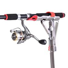 Outdoor Foldable Adjustable Bracket Automatic Full Stainless Steel Fishing Rod Stand Holder Sea Tackle Accessory Tool