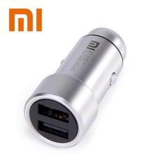 100% Original Xiaomi Mi Carregador de Carro Dual USB Max 5V3. 6A Metal Carregamento Rápido Carregador de Carro Universal Competiable Com Telefones inteligentes